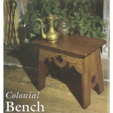 Colonial Bench Downloadable Plan Colonial Furniture Plans Woodworking Bench Plans Bench Plans