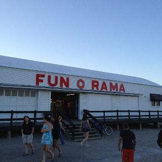 Fun-o-Rama at Short Sands Beach - doesn't look like much fun, does it?  :-)