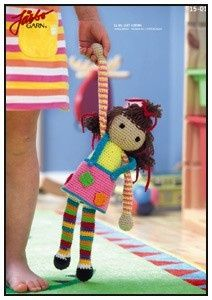 Free Crochet Doll pattern in Swedish (use Google translator to translate).
