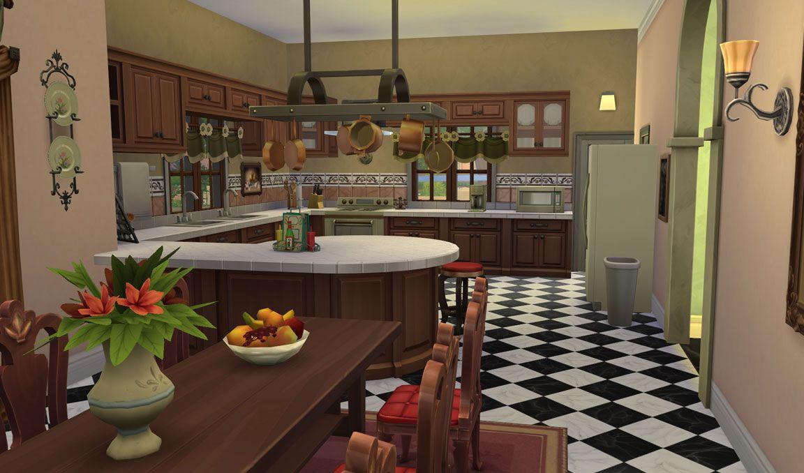 The Sims 4 Download Casa Martina Kitchen Sims House Sims 4 Kitchen Sims 4 House Design