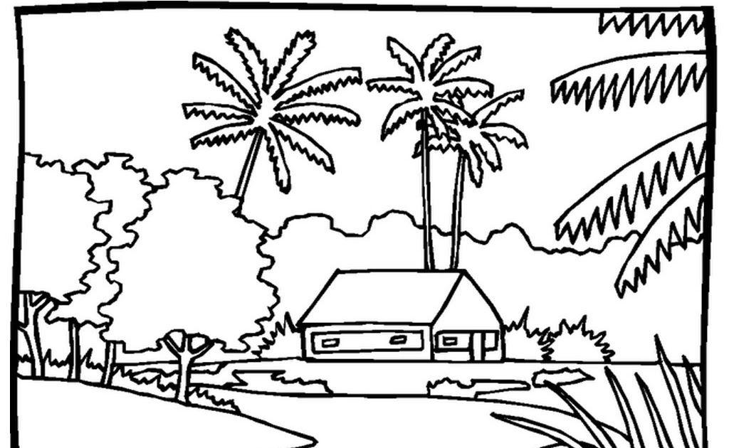 Paling Hits 30 Ilustrasi Pemandangan Sekitar Rumah Contoh Gambar Ilustrasi Pemandangan Di Sekitar Rumah Download Gadis Ko Di 2020 Buku Mewarnai Gambar Pemandangan