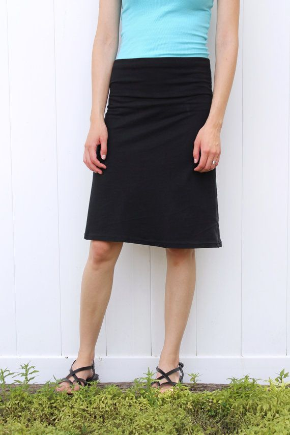 Short Jersey Knit A Line Women's Skirt with Yoga by ThreadsbyEmily ...