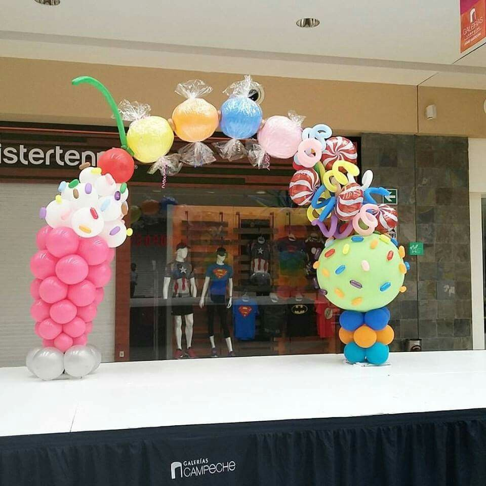 Candyland arch Candyland arch balloons