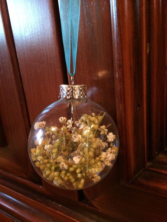Dried Goldenrod and Baby's Breath Ornament by TheFancyMoose