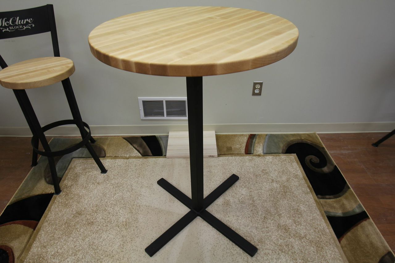 Butcher block pub table with matching chairs by mcclure tables butcher block pub table with matching chairs by mcclure tables watchthetrailerfo