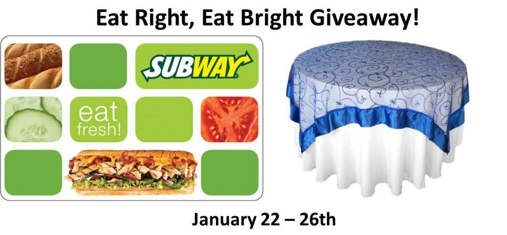 Enter to Win a 25 Gift Card to Subway, Trader Joe's or