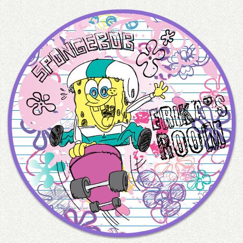 Spongebob Girls Room Custom Wall Decal Wall Sticker Outlet - Spongebob room decals