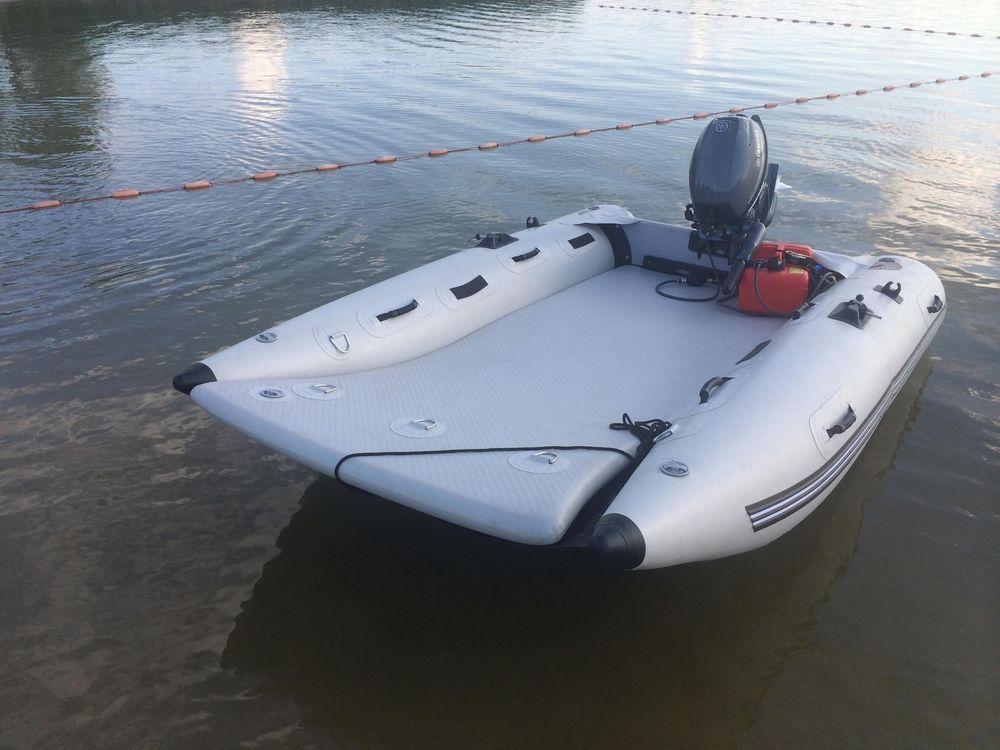 THEAIRBOAT Inflatable Mini Catamaran 9.6' High Speed Boat ...