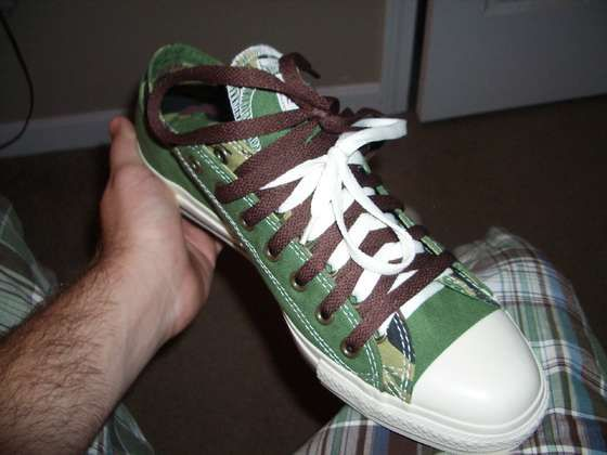 75145583e857 How to lace up Converse doubles. I just bought a pair so I need to figure  this out. Lol.