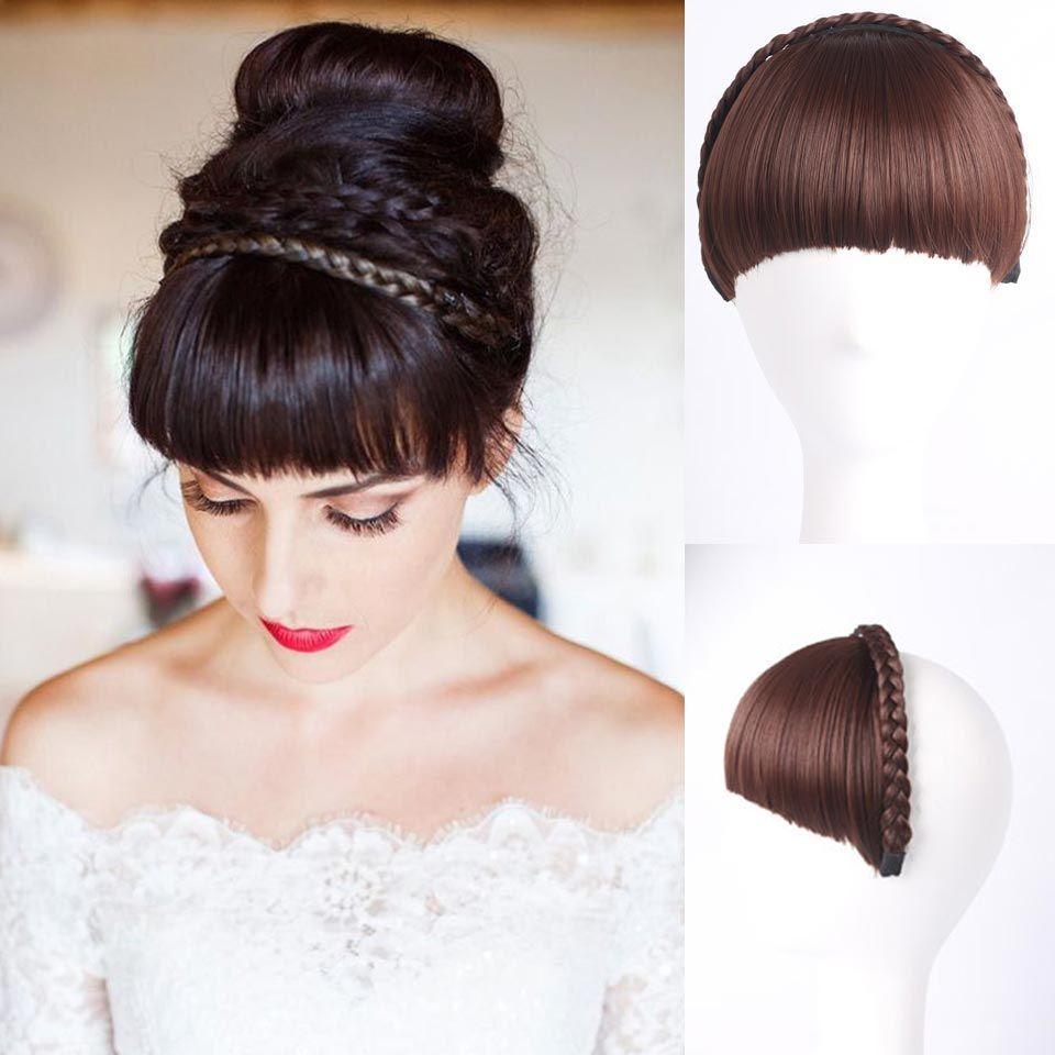 Bangs Chignon 1pc Multi-color Bangs Natural Fake Hair Extension ...