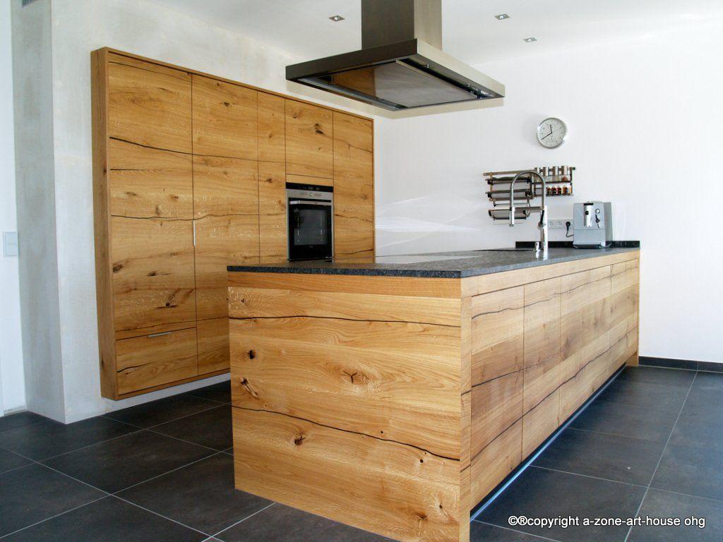MassivholzKüche aus DonauEiche Schreinerküche Küchen aus der