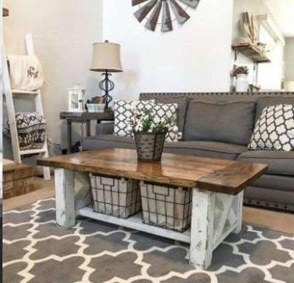 Cool Living Room Furniture: 48 Cool Farmhouse Living Room Decoration Ideas