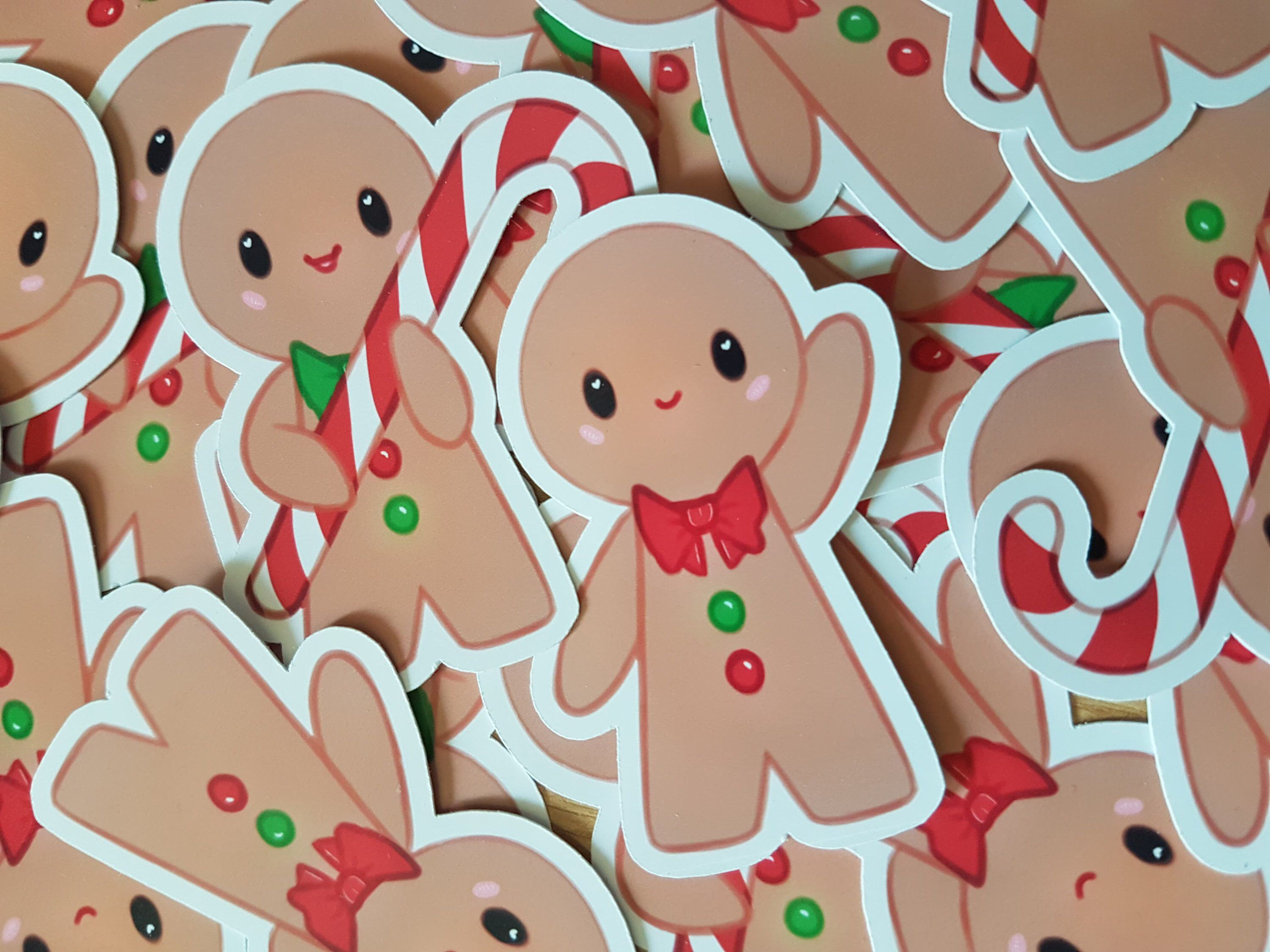 Excited to share this item from my etsy shop gingerbread men sticker christmas design laptop custom planner journal kawaii supplies