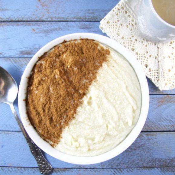 Cinnamon Rice Porridge. Sweet one bowl Cinnamon Rice ...