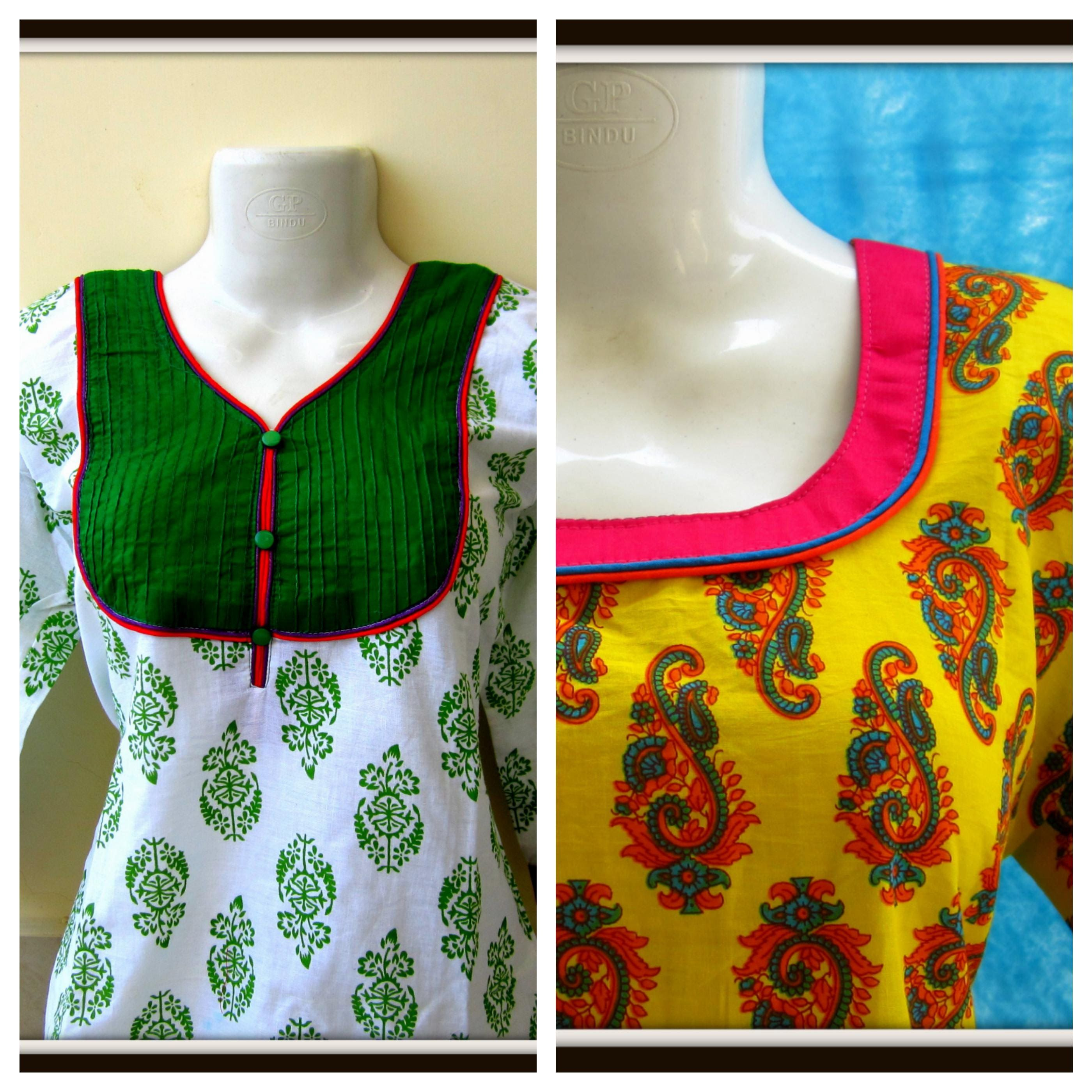 Double Piping Neckline Easy Sewing Diy Neck Designs For Suits Cotton Dress Pattern Cotton Dress Pattern Indian