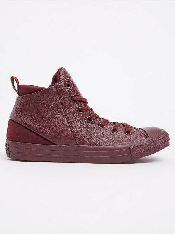Converse Women's Sneakers Chuck Taylor All Star Sloane Mono Leather Mid Dark Red