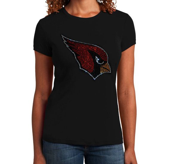 Arizona Cardinals Rhinestone Bling T-Shirt top by Girlsplanet ... 7fa972a8d0