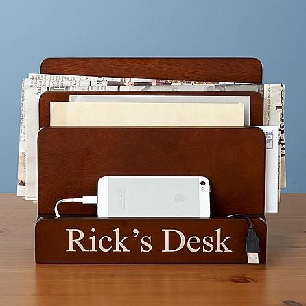 Magnetic Desk Organizer and Charging Station Compact