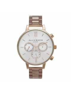 Olivia Burton Big Dial Chrono Detail Rose Gold Bracelet watch