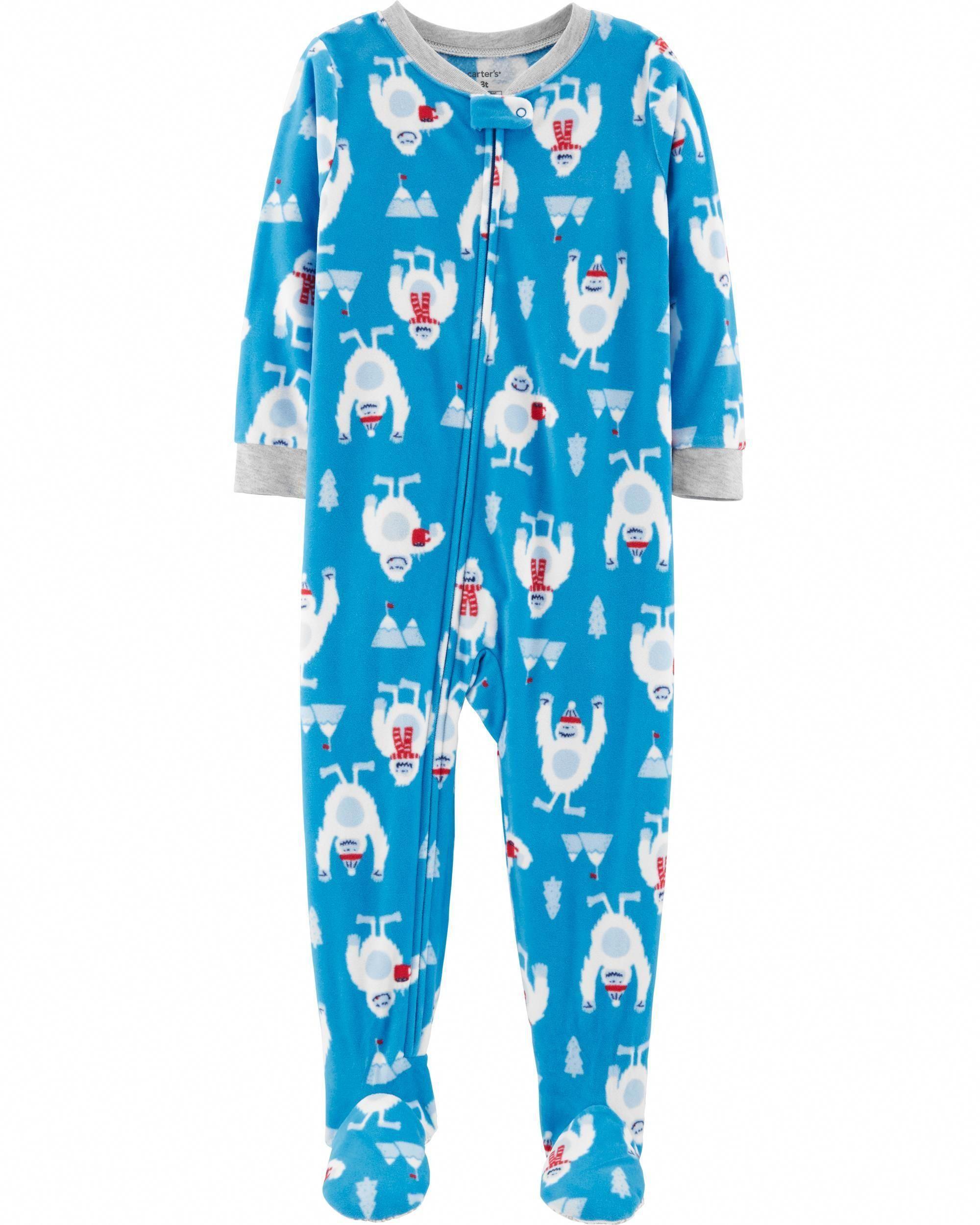 18a15b51c Toddler Boy 1-Piece Abominable Snowman Fleece PJs