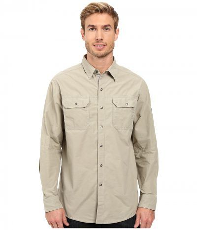 Kuhl - Kompakt Long Sleeve Shirt (Khaki) Men's Long Sleeve Button Up