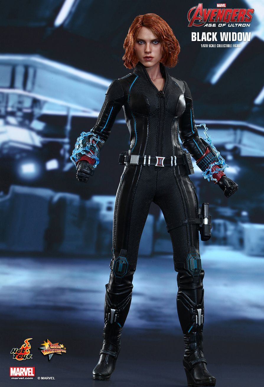1:6 Black Widow Head Model Natasha Romanoff Female Hero Head Carving White Hair
