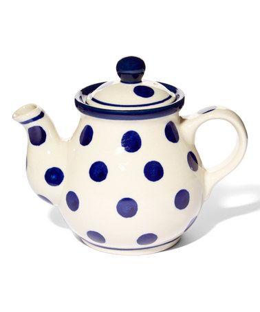 Look what I found on #zulily! Polka Dot Teapot #zulilyfinds