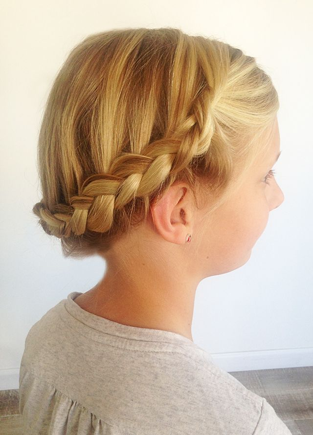 Easy Braiding For Moms The Crown Braid Kids Braided Hairstyles