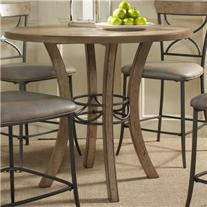 Hillsdale Charleston Round Counter Height Table W/ Wood   Hudsonu0027s  Furniture   Pub Table