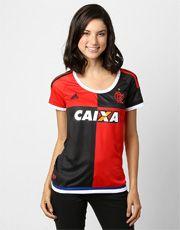 Camisa Feminina Adidas Flamengo 450 anos s nº - Vermelho+Preto ... 3c31b9a653b87