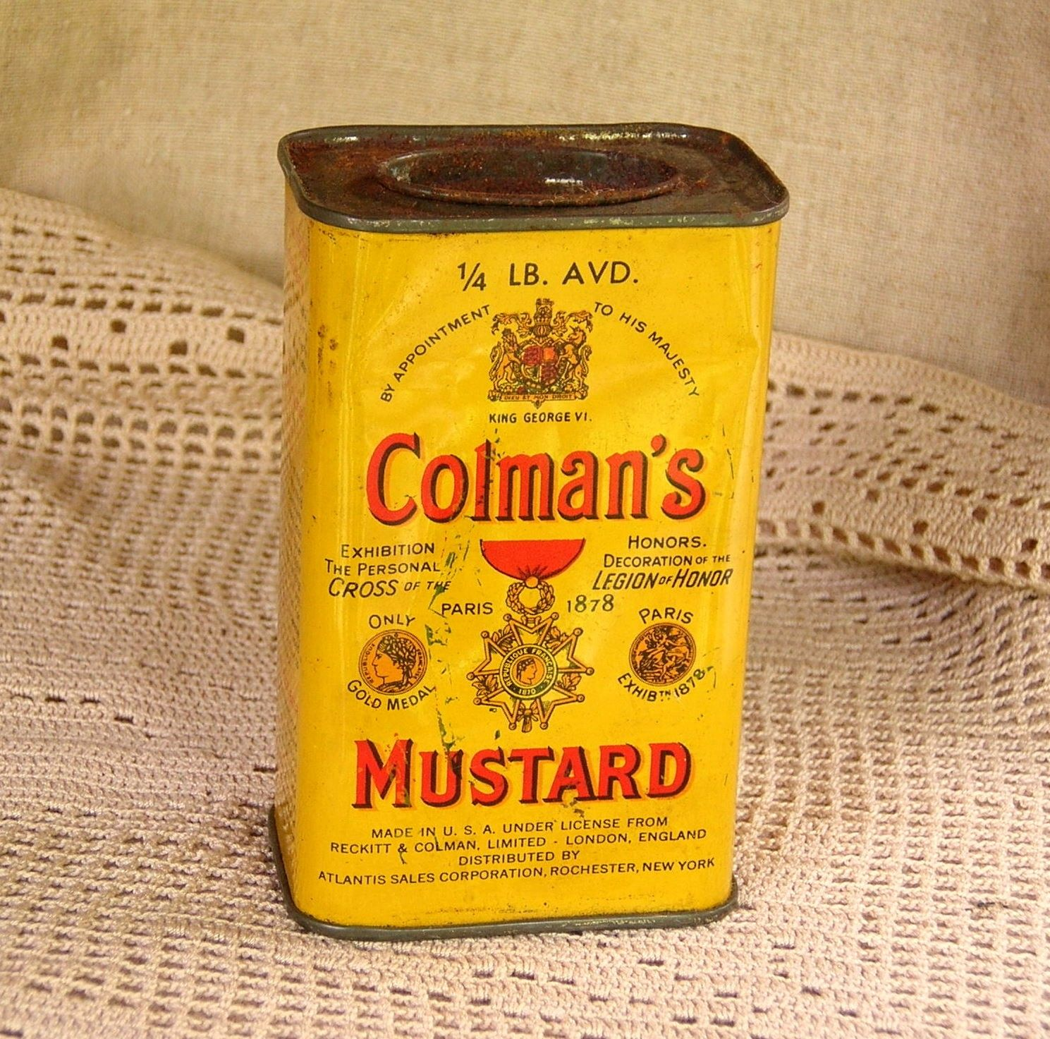 Metal Retro  Sign  = Colman,s Mustard DOLLS HOUSE