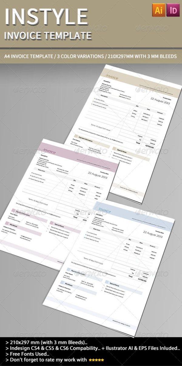 35  best invoice templates psd docx