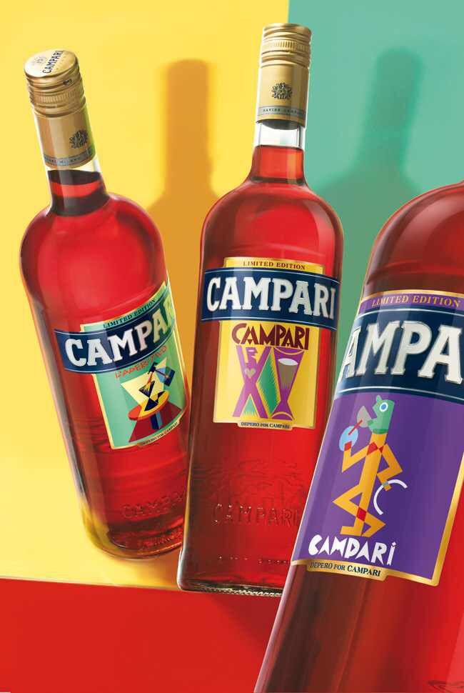 Bitter Campari - Italian Advertisement - art by Fortunato Depero ...
