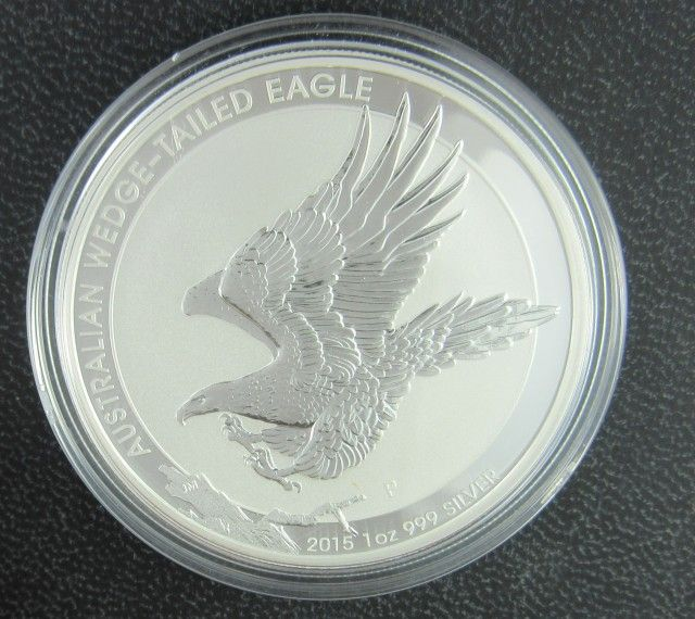 2015 Australian Wedge Tail Eagle One Ounce Silver Coin Silver Coins Wedge Tailed Eagle Silver Bullion