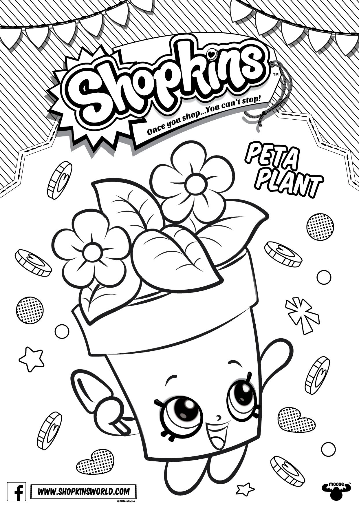 Shopkins coloring pages season 5 shopkins awesome printable coloring - Shopkins Colour In Peta Plant Find This Pin And More On Coloring Sheets