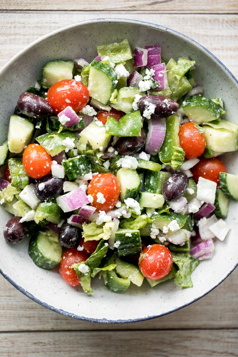 Greek Salad Recipe Romaine