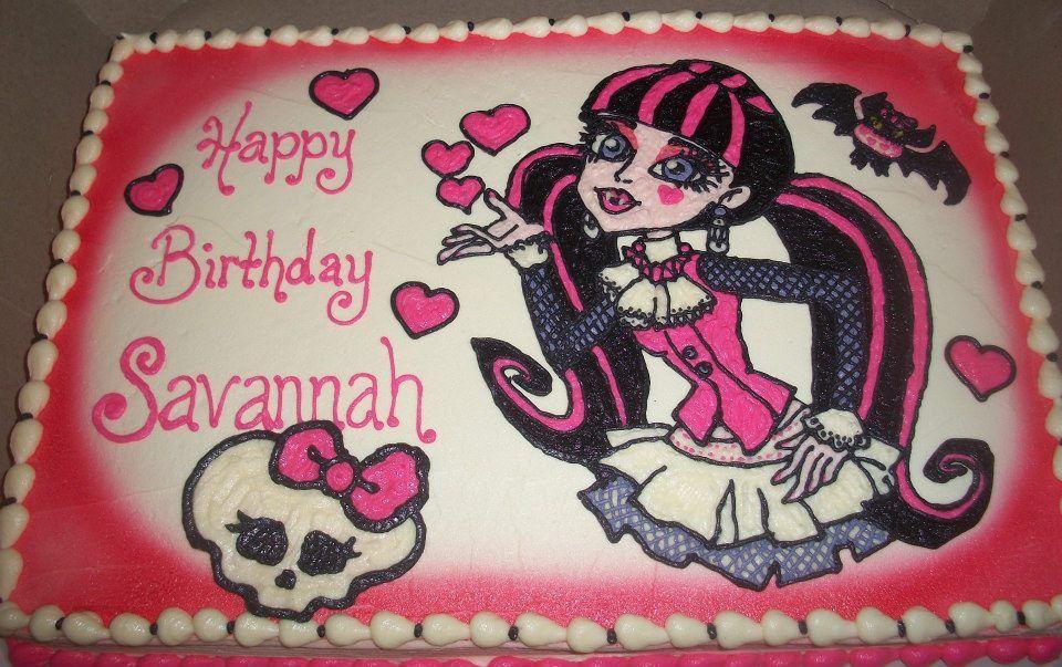 Superb Monster High Cake With Images Monster High Birthday Monster Funny Birthday Cards Online Bapapcheapnameinfo