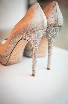 Shimmer In Champagne With A Round Up Of High Fashion Hued Bridal Gowns And Accessories Wedding ShoesChampagne HeelsSparkle