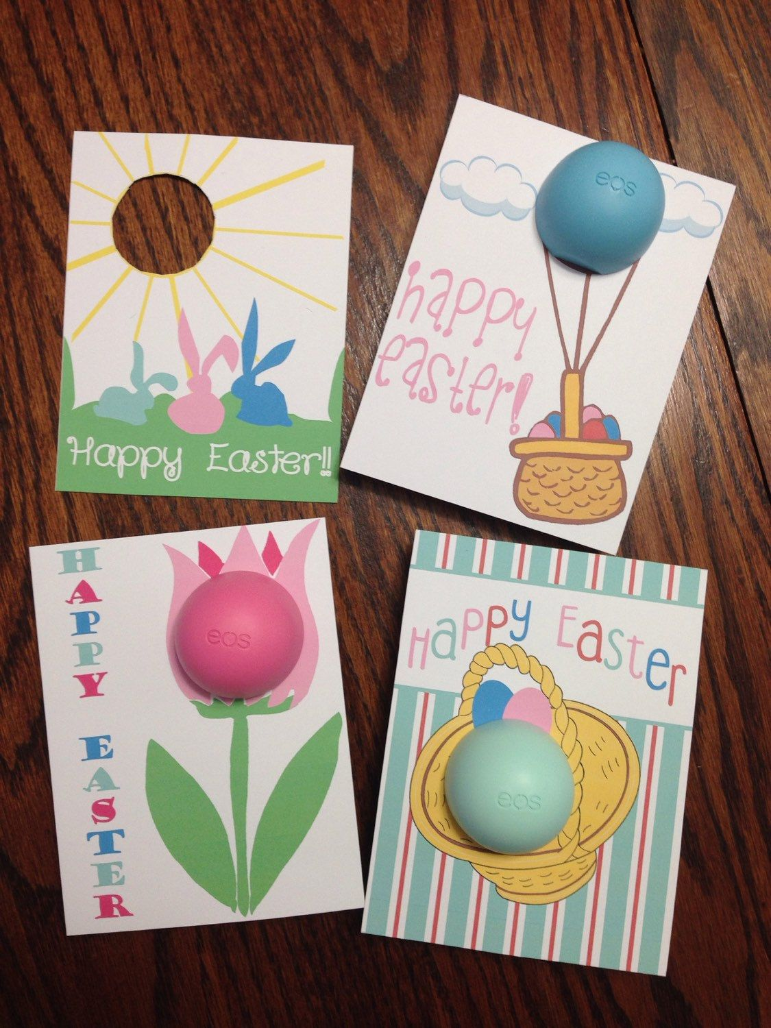 Easter cardsgift tags for eos lip balm printable instant