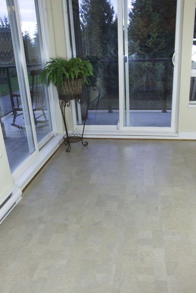 Gray Leather Cork Flooring