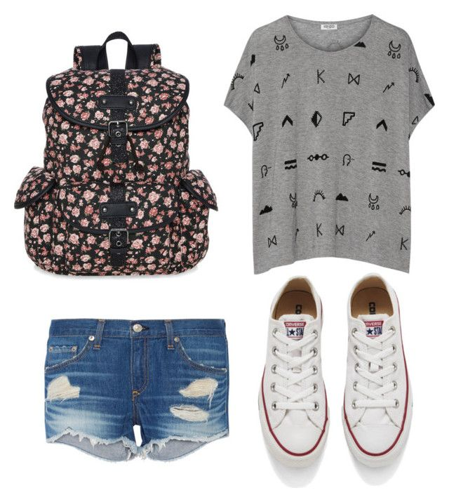 """""""casual school outfit"""" by crazylolo2001 on Polyvore featuring rag & bone, Kenzo, Converse and SM New York"""