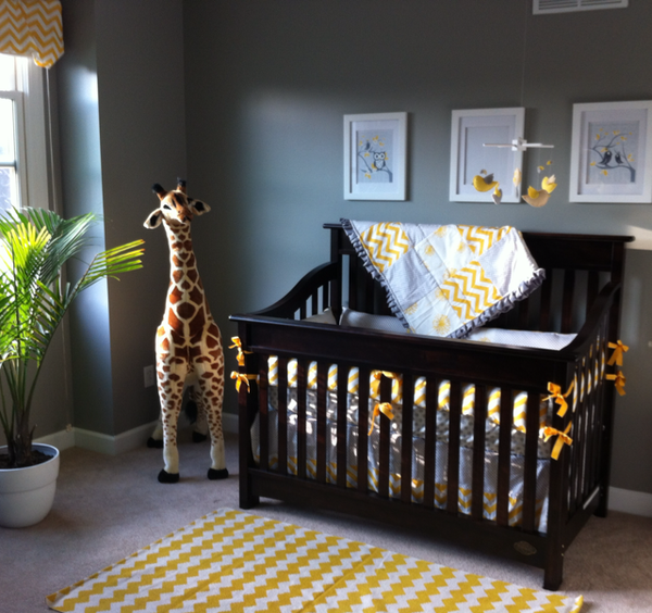 Babys Yellow And Gray Nursery Just A Few Finishing Touches Baby Boy Rooms Black Crib Nursery
