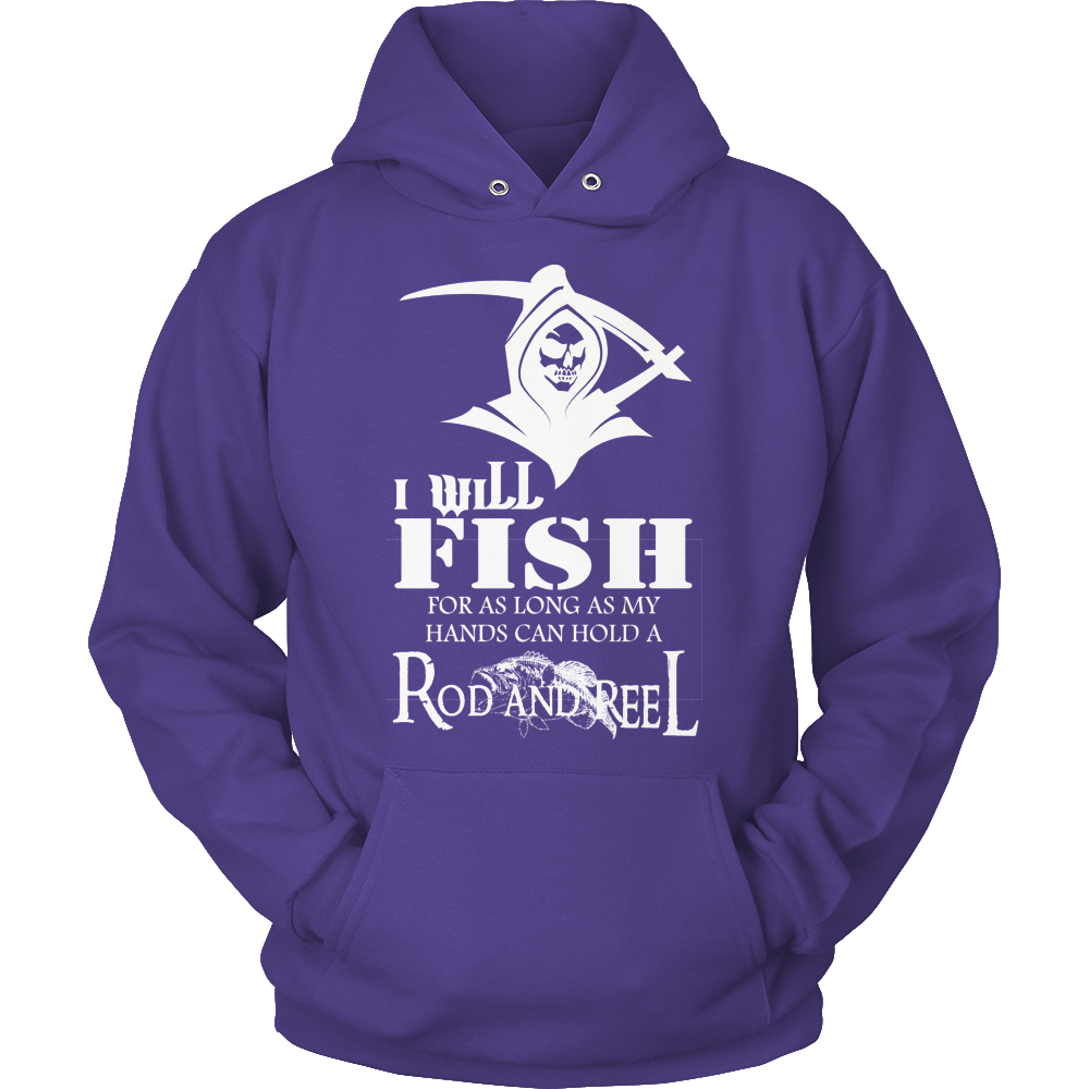 Fishing Hold Rod And Reel Hoodie