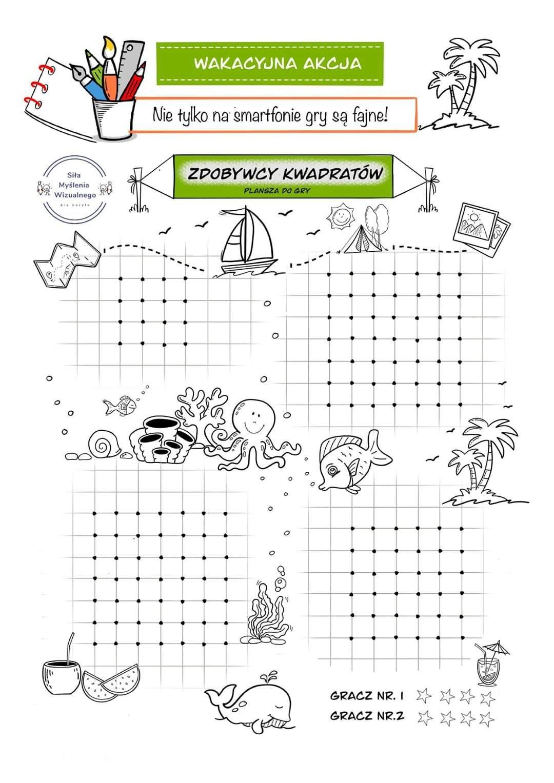 Gry Na Kartce Wakacyjna Akcja Nie Tylko Na Smartfonie Gry Sa Fajne In 2020 Activities For Kids Paper Games Education