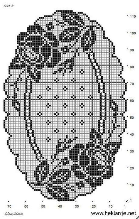 Filethäkeln Tischläufer Rosen -  filet crochet tablerunner roses - Gallery.ru / Фото #54 - κρινος - ergoxeiro