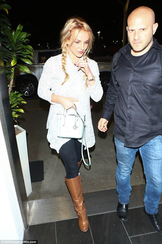 Needed help:Fortunately, Britney had a bodyguard with her to escort her through LAX and o...