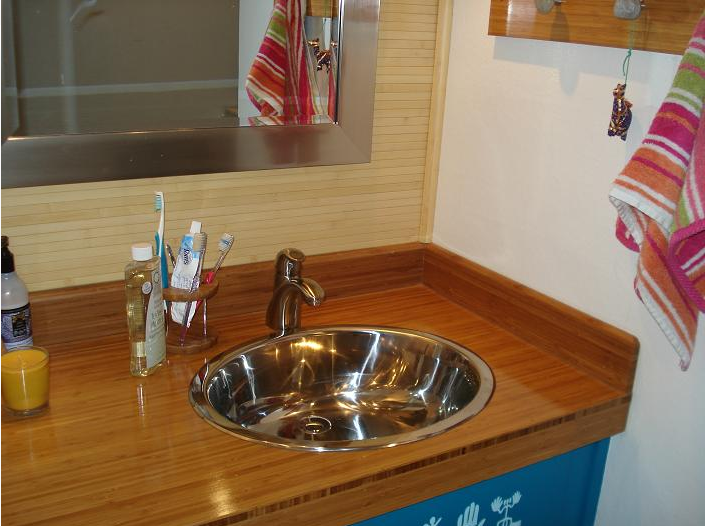 Bathroom Countertop Made Using 3 4 Ply Bamboo Plywood Click For