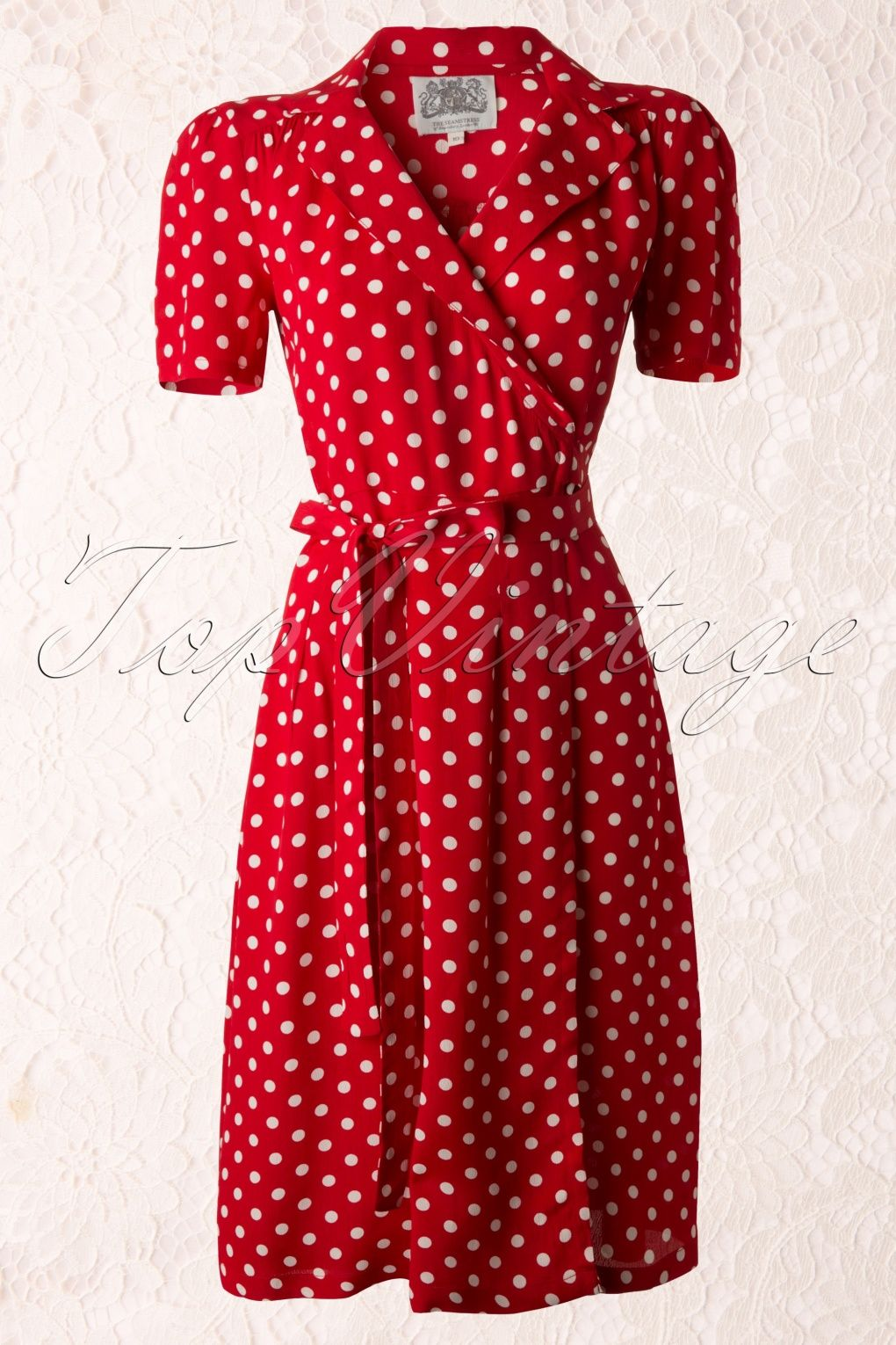 The Seamstress Of Bloomsbury 40s Peggy Wrapover Dress In Red And White Red Polka Dot Dress Vintage Fashion Fashion [ 1530 x 1020 Pixel ]