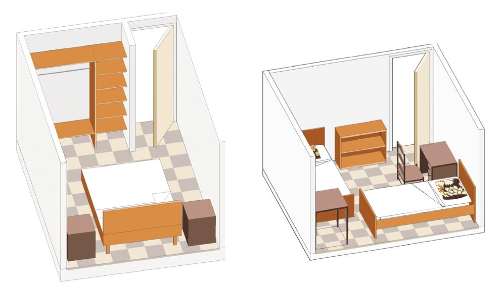 Los espacios que conforman la vivienda y su distribución