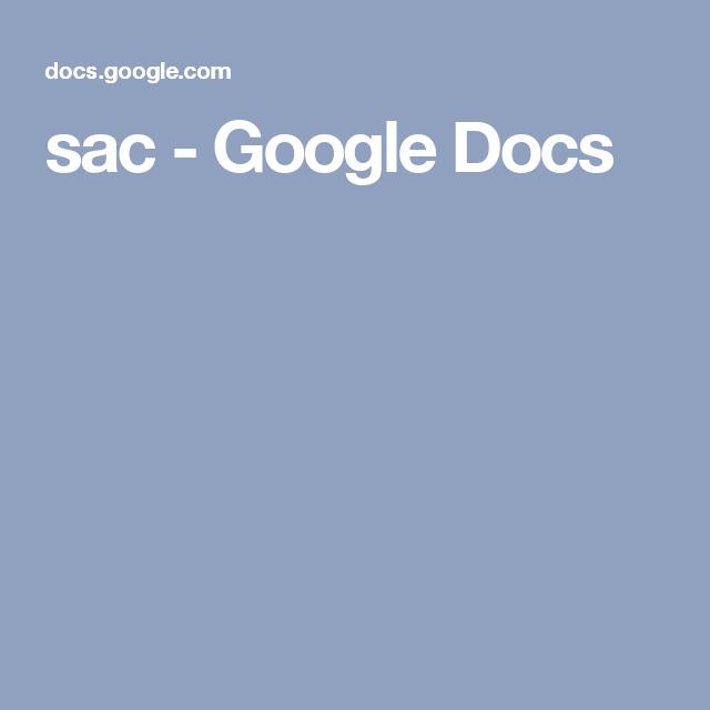 sac - Google Docs